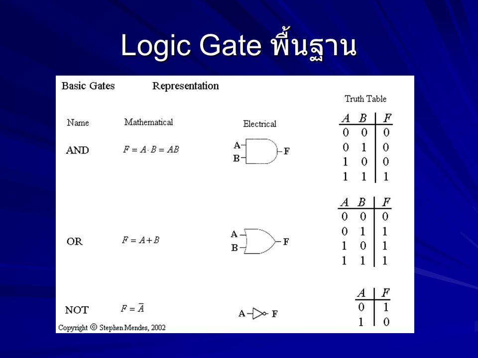 Logic Gate พื้นฐาน