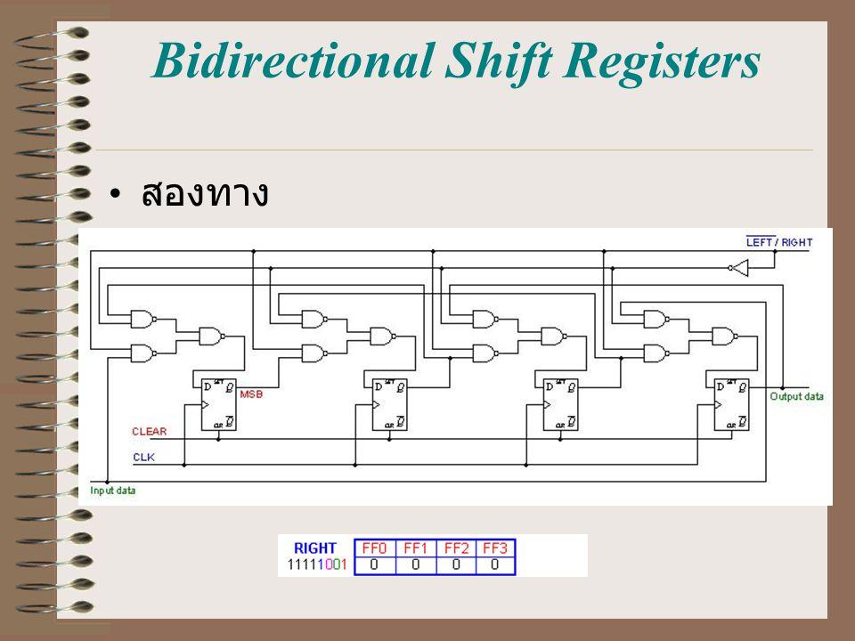 Bidirectional Shift Registers สองทาง