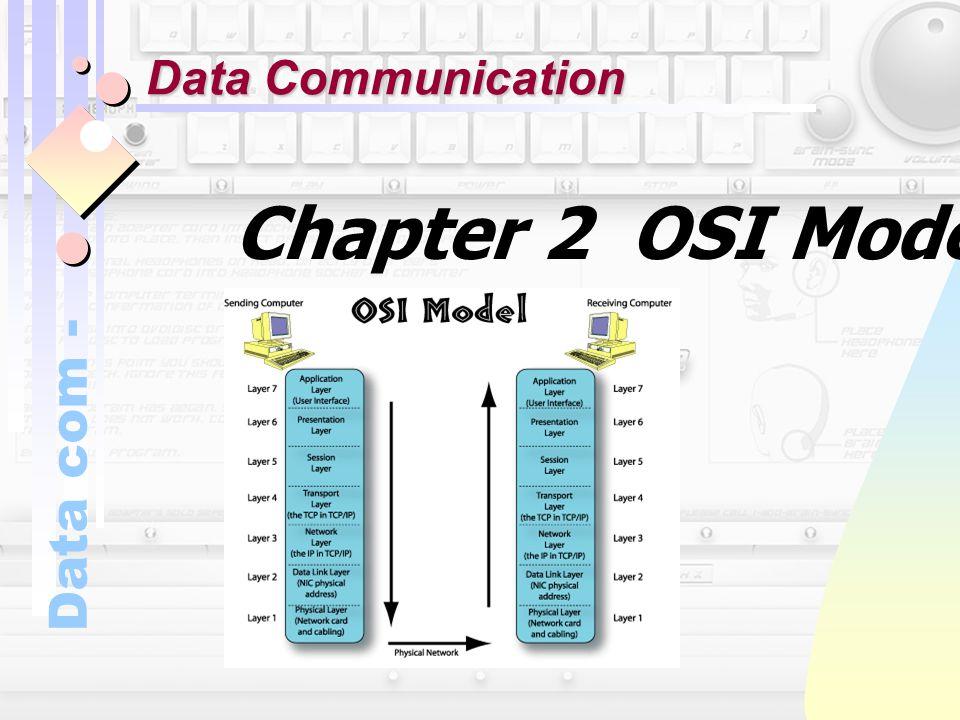Data com - Chapter 2 OSI Model Data Communication