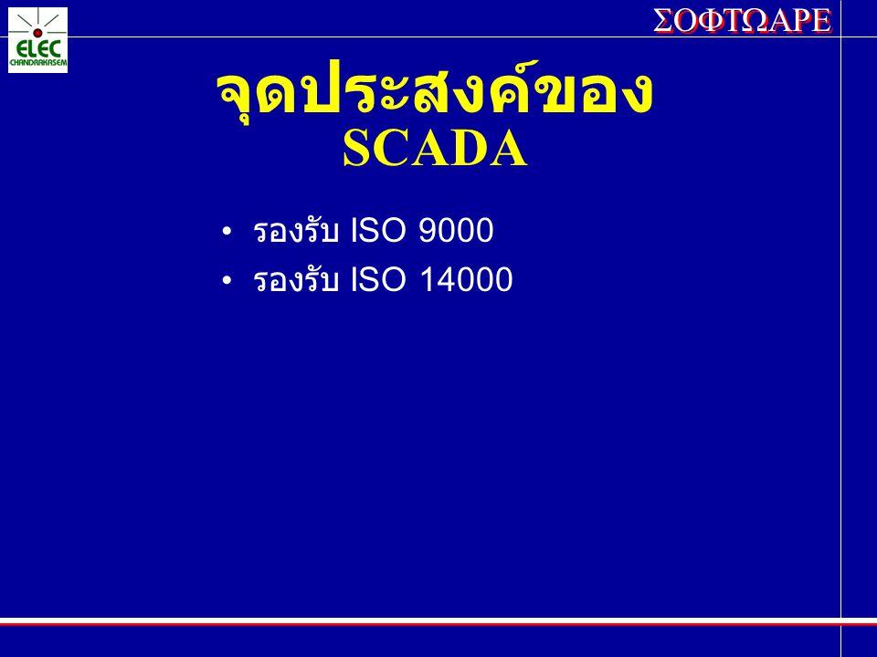 SOFTWARE จุดประสงค์ของ SCADA รองรับ ISO 9000 รองรับ ISO 14000