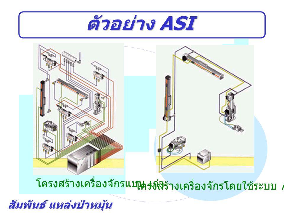 สัมพันธ์ แหล่งป่าหมุ้น ตัวอย่าง ASI โครงสร้างเครื่องจักรแบบ เก่า โครงสร้างเครื่องจักรโดยใช้ระบบ ASI bus system