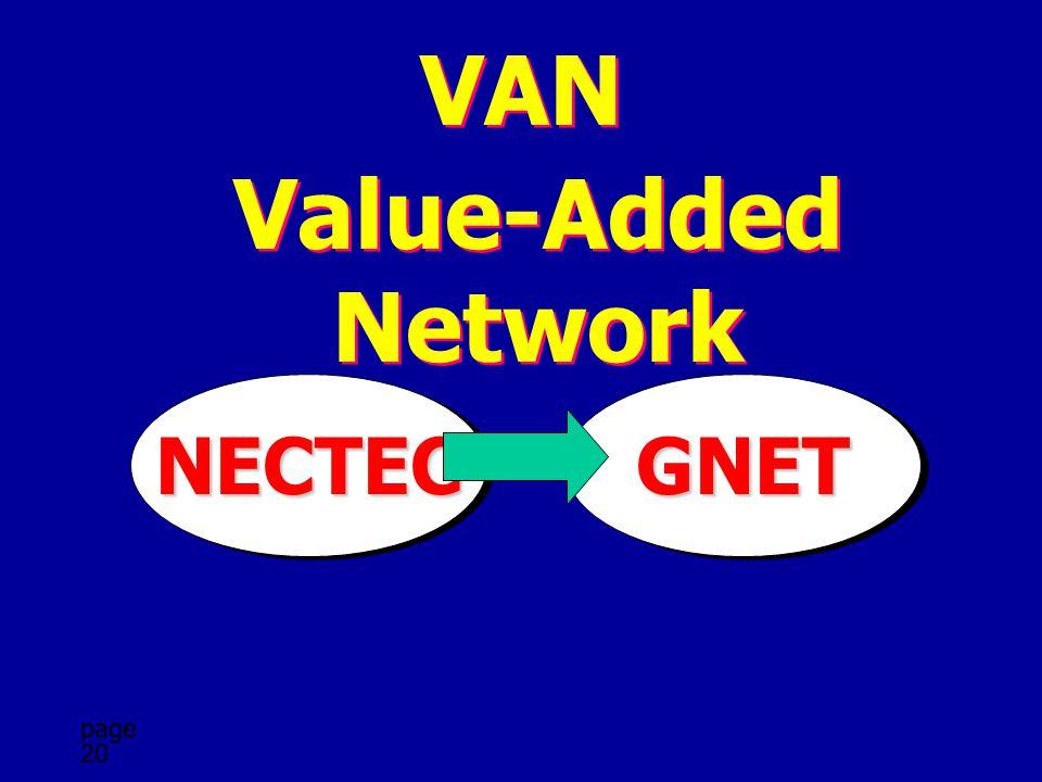 page 20 VAN Value-Added Network GNETGNETNECTECNECTEC