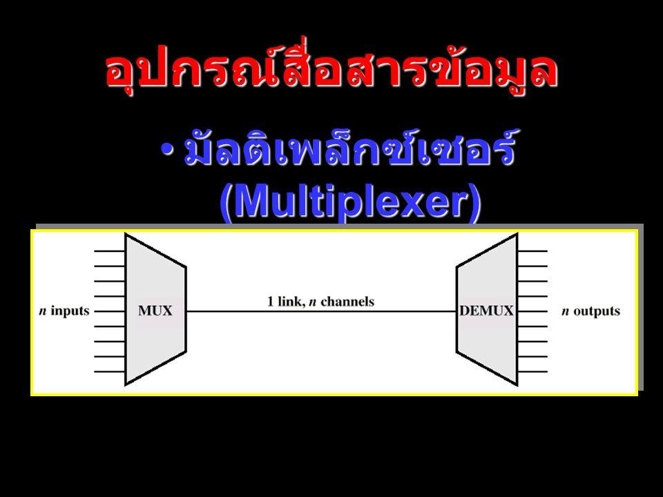 page 28 อุปกรณ์สื่อสารข้อมูล มัลติเพล็กซ์เซอร์ (Multiplexer) มัลติเพล็กซ์เซอร์ (Multiplexer)