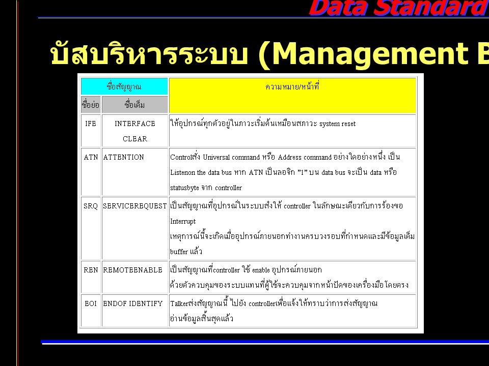 Data Standard บัสบริหารระบบ (Management Bus)