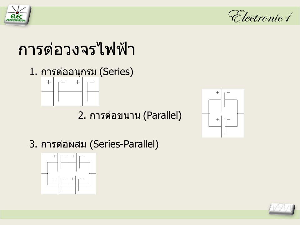 Electronic1 การต่อวงจรไฟฟ้า 1.การต่ออนุกรม (Series) 2.