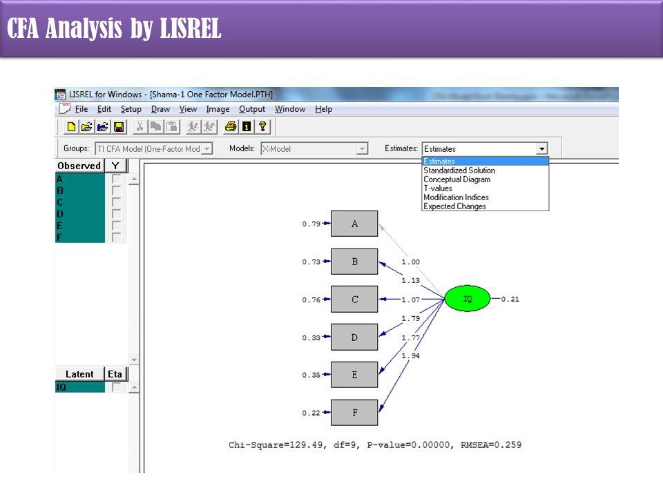 CFA Analysis by LISREL