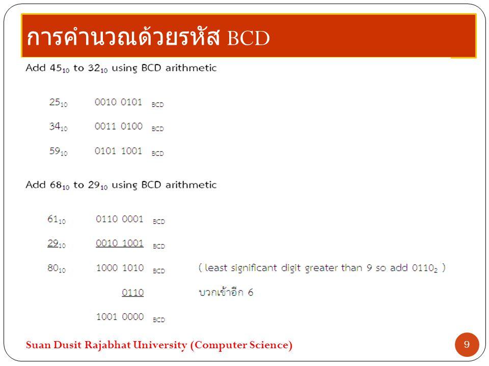 การคำนวณด้วยรหัส BCD Suan Dusit Rajabhat University (Computer Science) 9