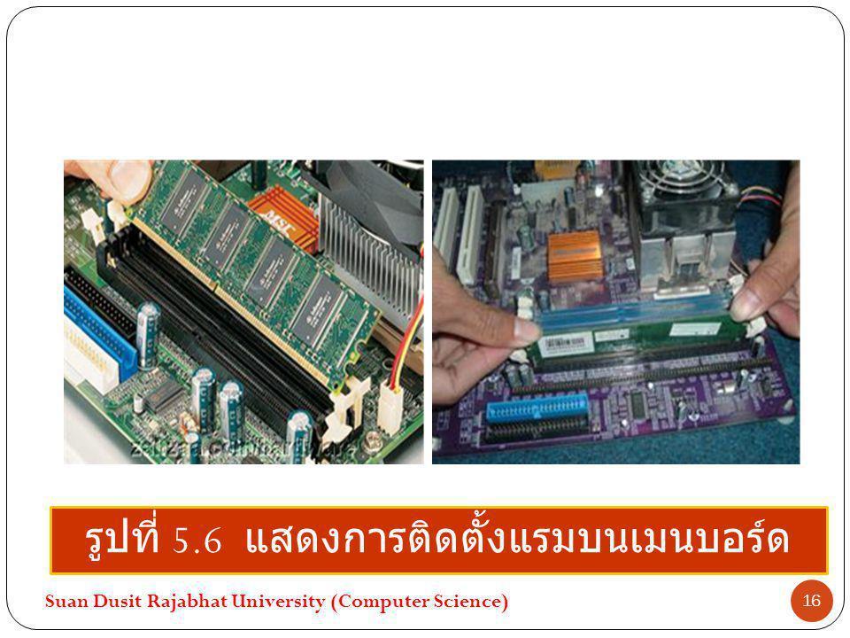 รูปที่ 5.6 แสดงการติดตั้งแรมบนเมนบอร์ด Suan Dusit Rajabhat University (Computer Science) 16