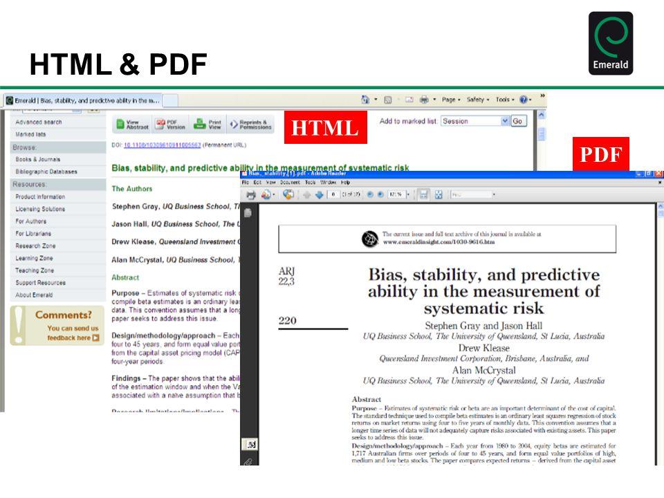 HTML & PDF HTML PDF