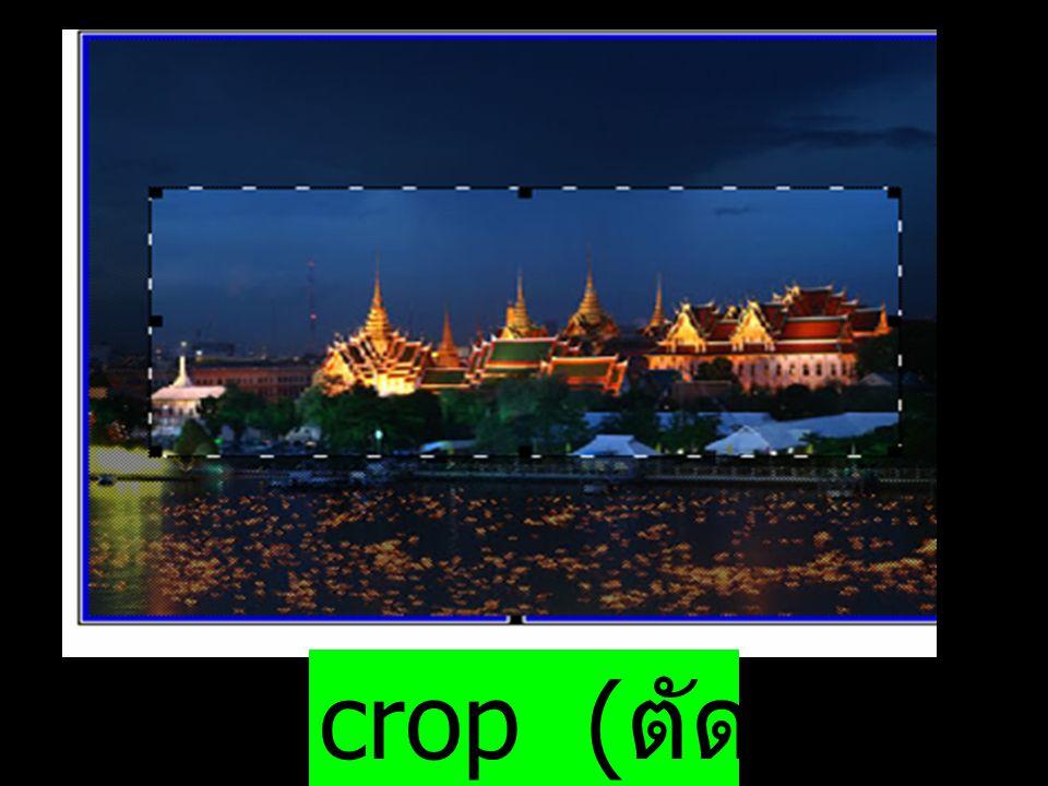 crop ( ตัดภาพ )
