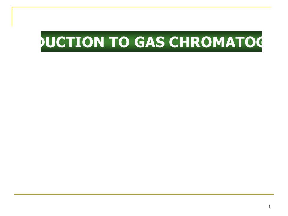 การเลือกก๊าซพา (Carrier Gas) มีคุณสมบัติเฉื่อย (inert) ปราศจากความชื้น และ บริสุทธิ์ ( มีสิ่งปนเปื้อน <1 ppm) H 2 เร็วที่สุดมีความหนืดต่ำที่สุด แต่ไม่เหมาะกับ GC/MS เนื่องจาก ยากต่อกับขับออกด้วย vacuum pumping system N 2 ดีกว่า H 2 และ He เล็กน้อยที่ optimum carrier gas flow rate สำหรับ fast analysis: H 2 ดีกว่า He และ He ดีกว่า N 2 คำนึงถึงเครื่องตรวจวัดที่ใช้ ใช้ He เป็นก๊าซพาใน GC/MS
