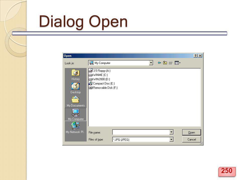 Dialog Open 250