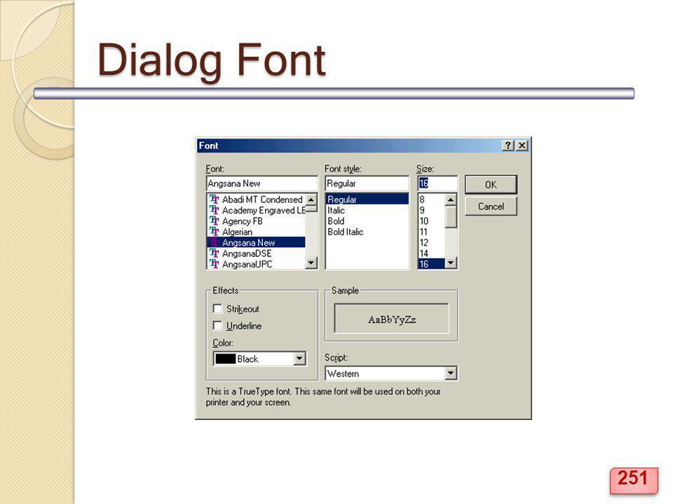 Dialog Font 251