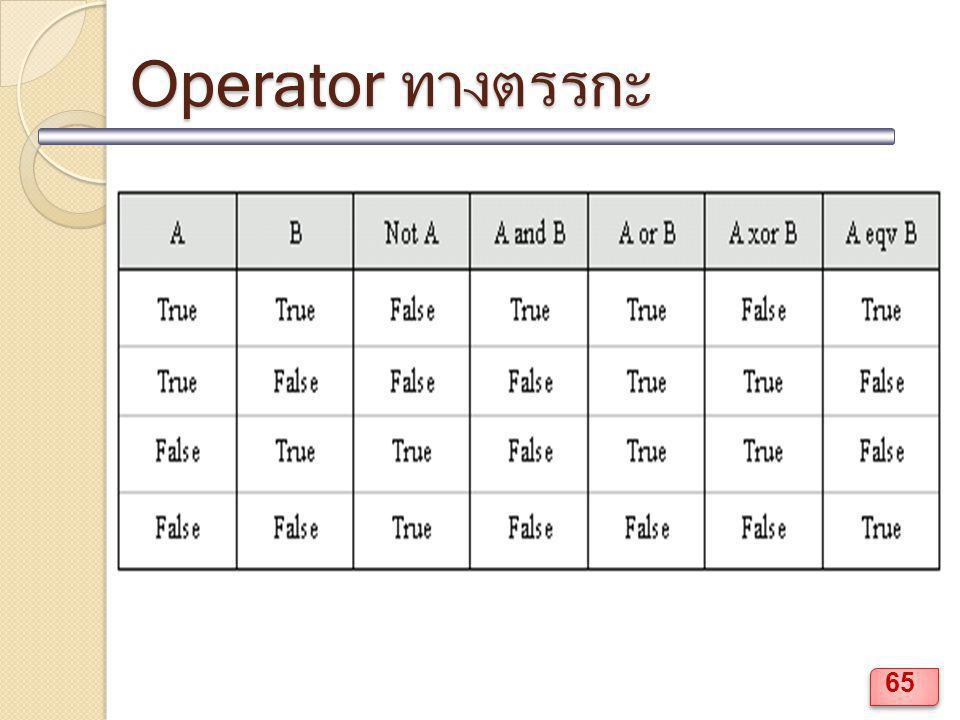 Operator ทางตรรกะ 65