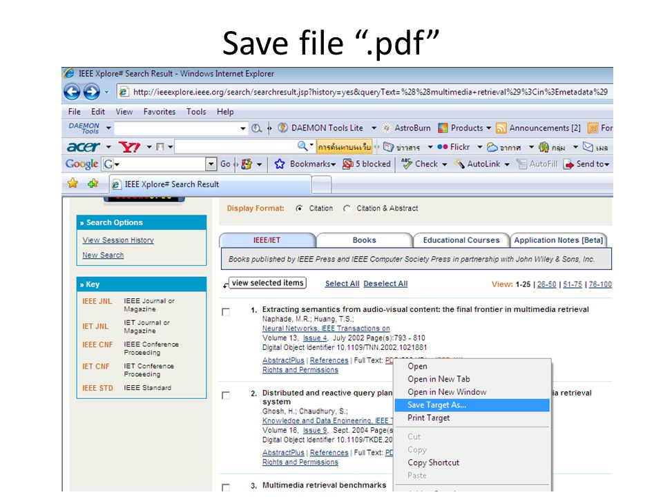 Save file .pdf
