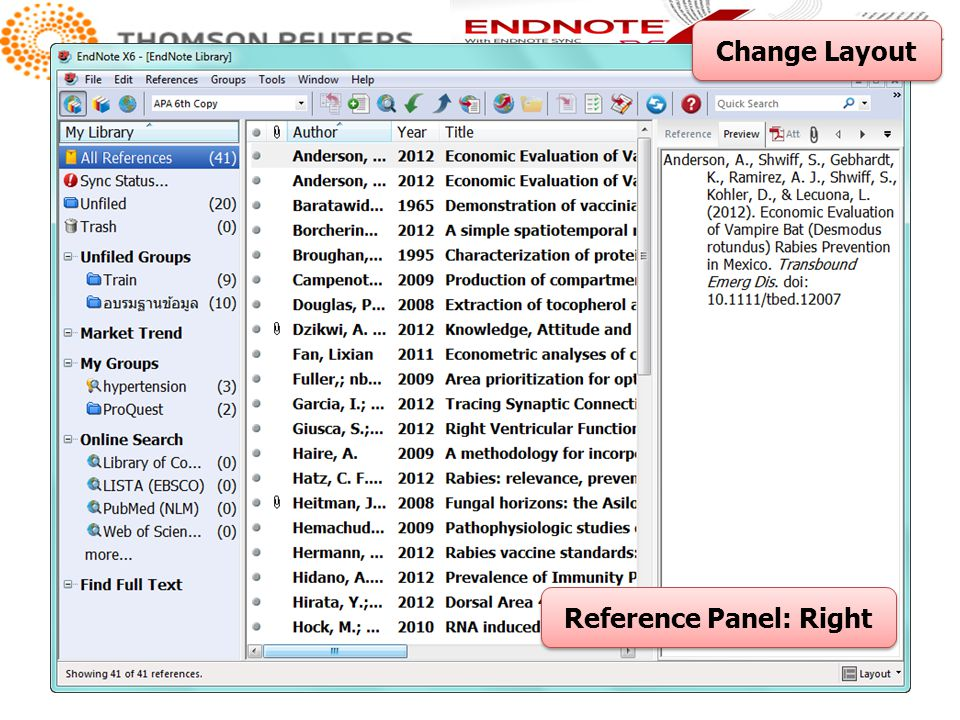 Change Layout Reference Panel: Right