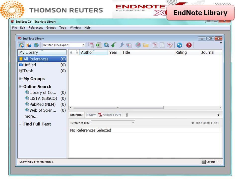 1 2 1. เลือกรายการที่ต้องการ 2. คลิกที่ Export เลือก EndNote