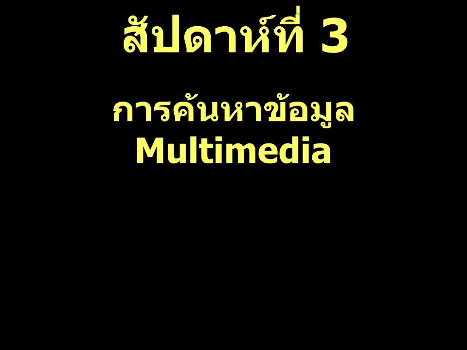 สัปดาห์ที่ 3 การค้นหาข้อมูล Multimedia