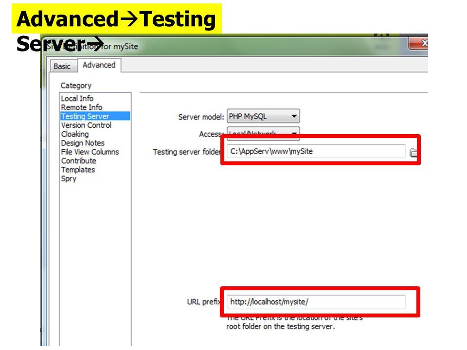 Advanced  Testing Server 