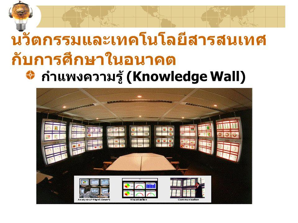 นวัตกรรมและเทคโนโลยีสารสนเทศ กับการศึกษาในอนาคต กำแพงความรู้ (Knowledge Wall)