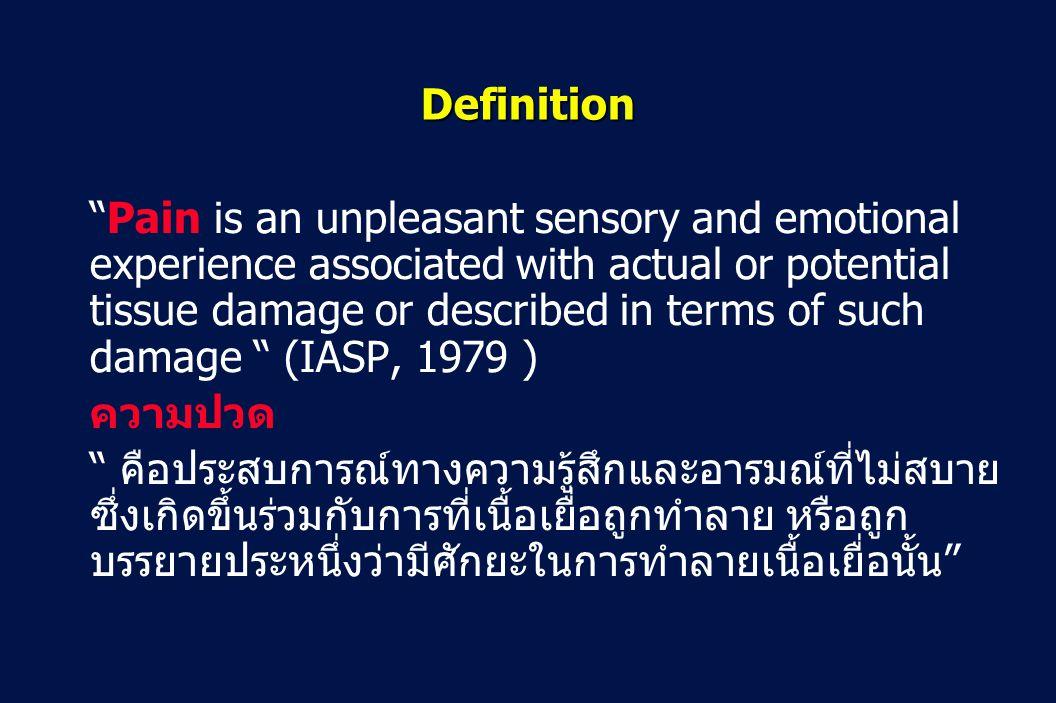 45 Revision 10, 10-26-01 Ladder of decreasing pain intensity