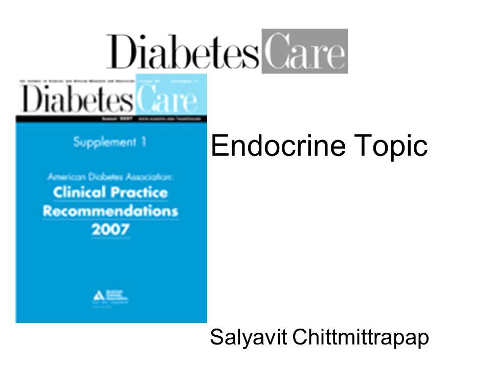 Endocrine Topic Salyavit Chittmittrapap