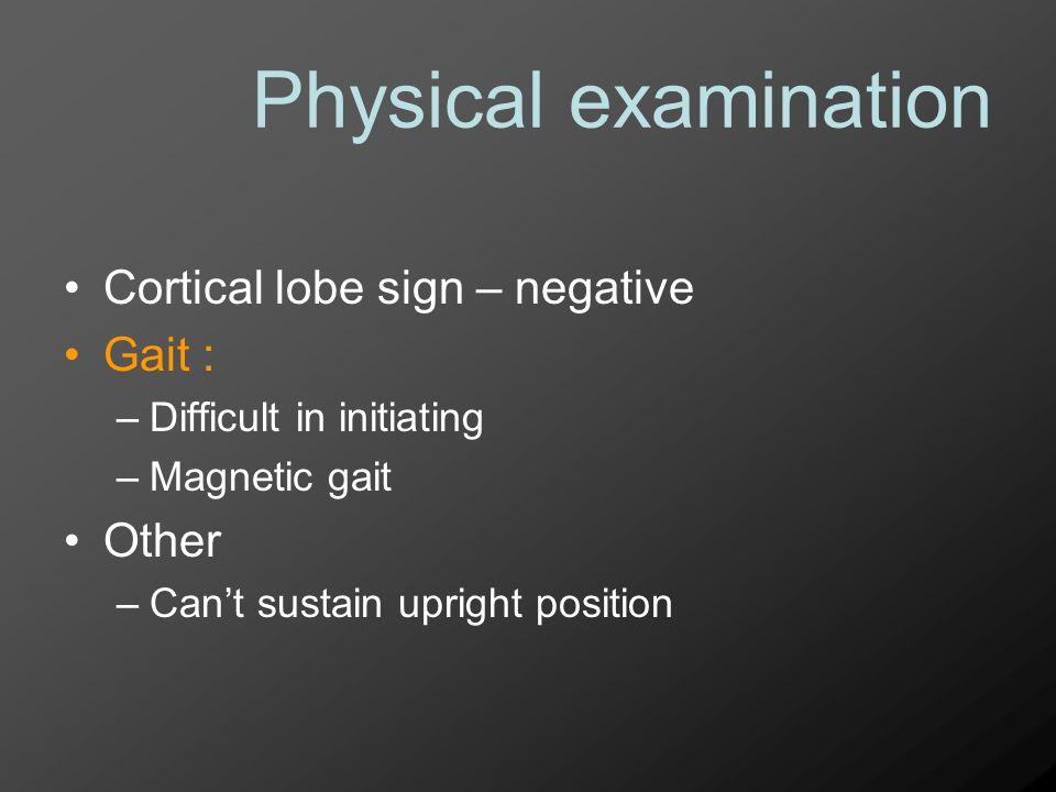 Problem list 1.gait instability 2. parkinsonism 3.