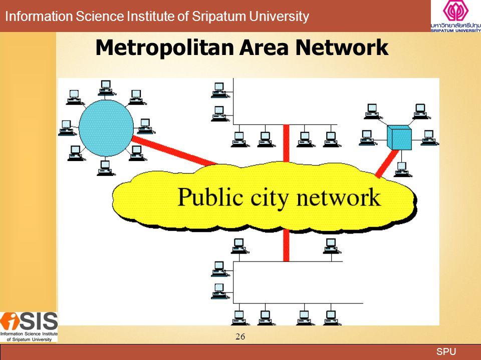 SPU Information Science Institute of Sripatum University 26 Metropolitan Area Network