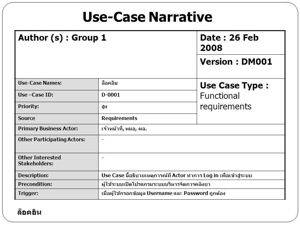 Database Design: Drug ลำดับ (Sequence No.) คุณสมบัติ (Attribute) คำอธิบาย (Description) ขนาด (Width) ประเภท (Type) ประเภทคีย์ (Key Type) 1drugidรหัสยา6Varchar2PK 2dnameชื่อยา50Varchar2 3 mfgDate วันผลิต date 4expDaate วัน หมดอายุ date 5total จำนวน6Varchar2 6unitหน่วยนับ6Varchar2 7 typeประเภท6Varchar2FK 8price ราคา 6Varchar2 9drugdetail รายละเอียด150Varchar2 10Produceid บริษัทผู้ผลิต6Varchar2FK