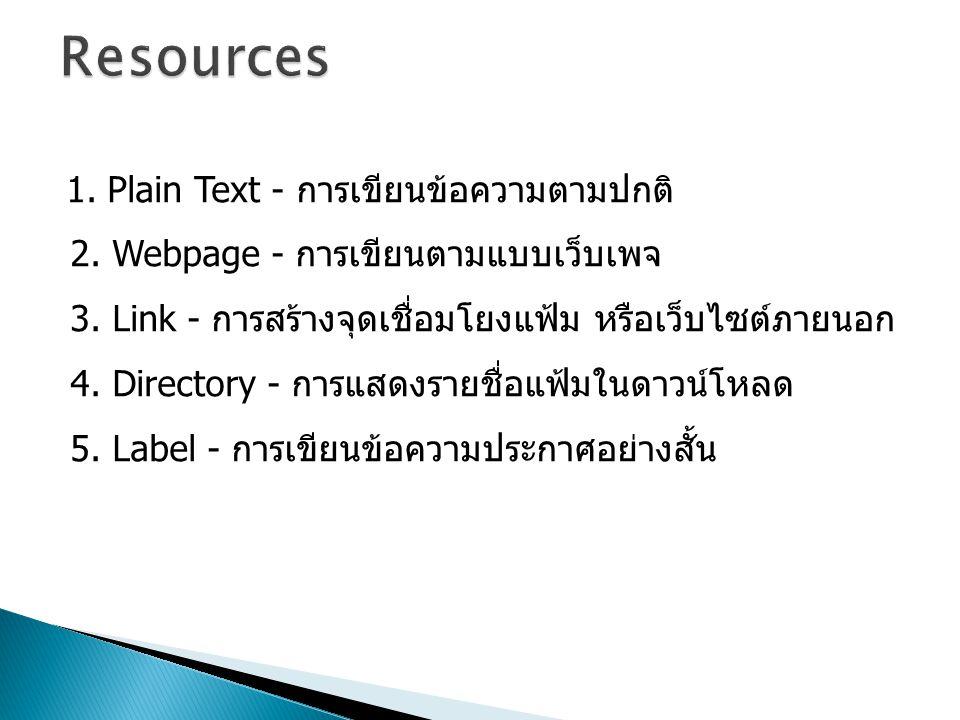 1.Plain Text - การเขียนข้อความตามปกติ 2. Webpage - การเขียนตามแบบเว็บเพจ 3.