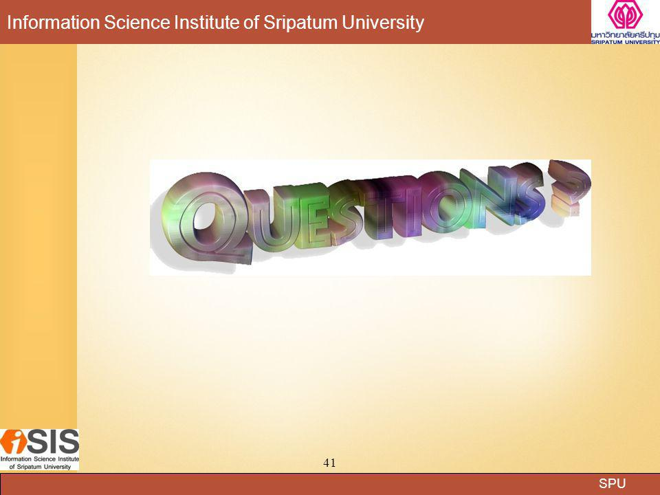 SPU Information Science Institute of Sripatum University 41