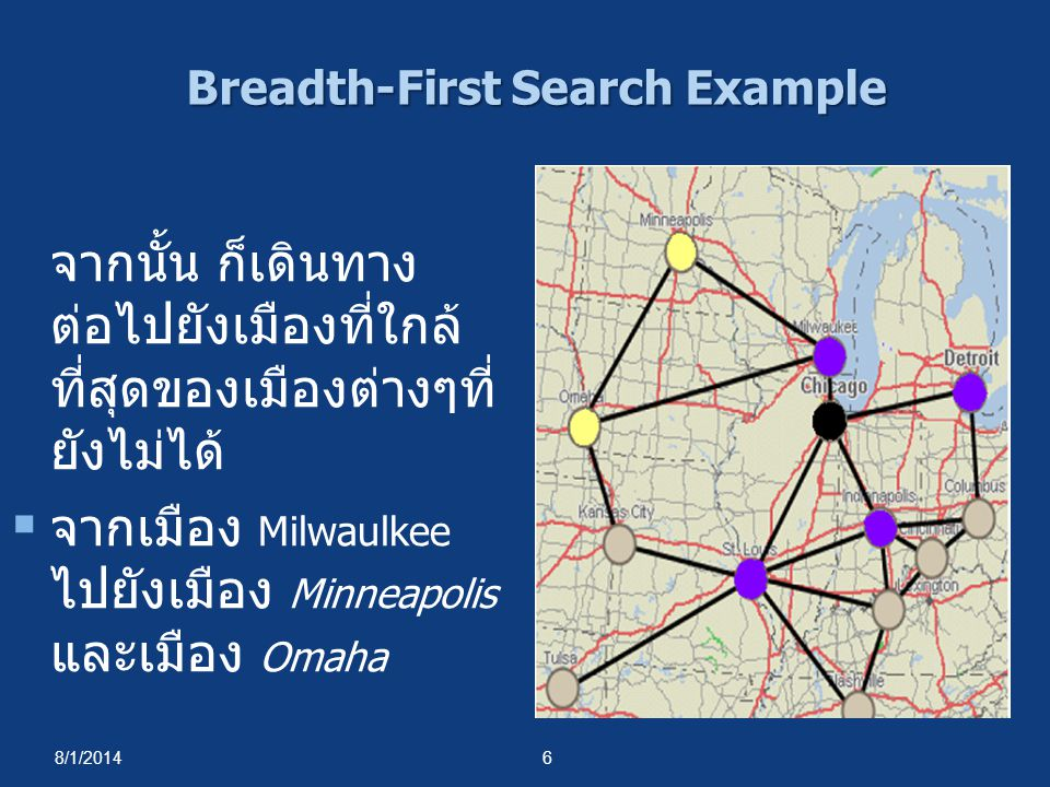Depth-First Search Properties  Time complexity เหมือนกับของ BFS.