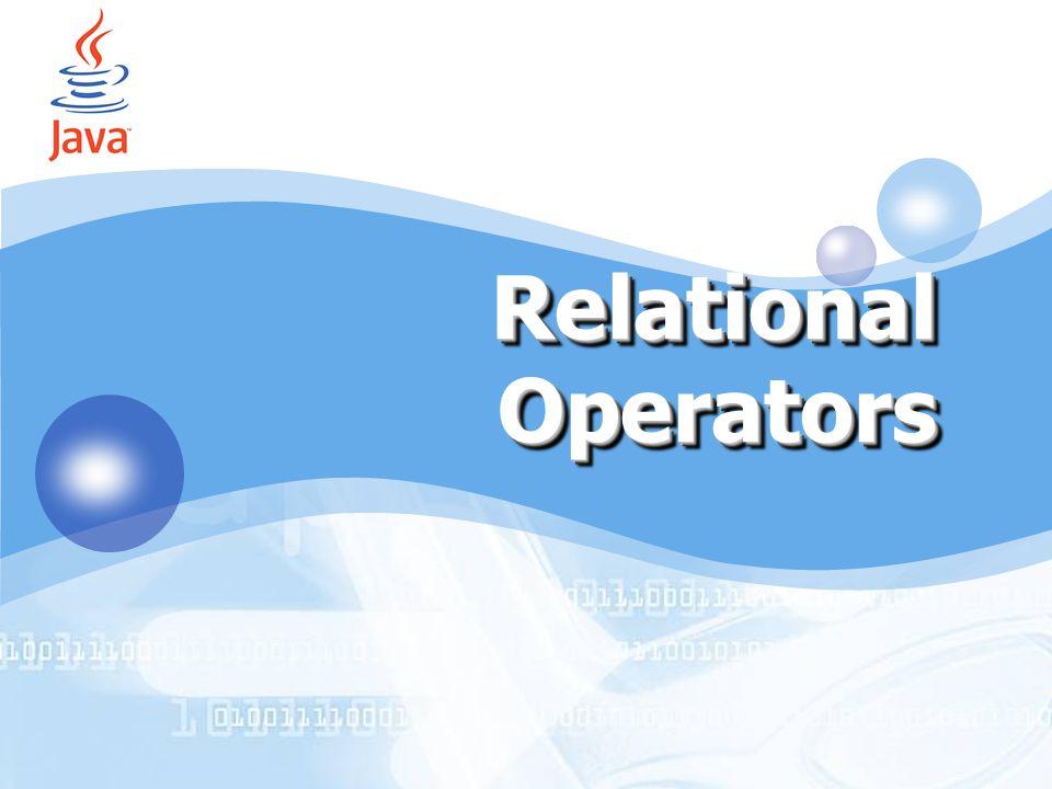 1. Relational Operators 2