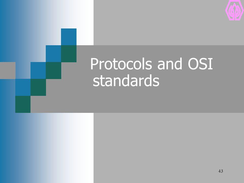 43 Protocols and OSI standards