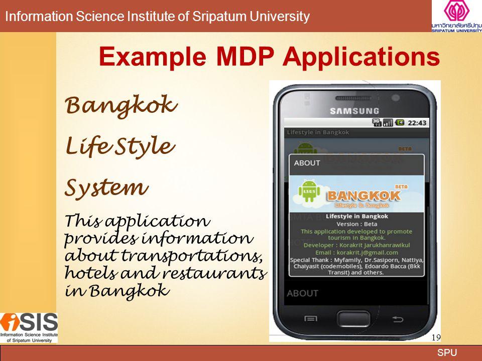 SPU Information Science Institute of Sripatum University LIT Lab (Learning Innovation Technology Laboratory) Dr.Surasak Mungsing 11