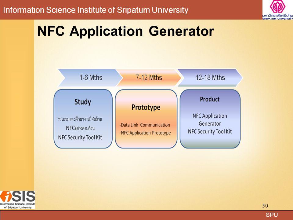 SPU Information Science Institute of Sripatum University NFC Application Generator 50