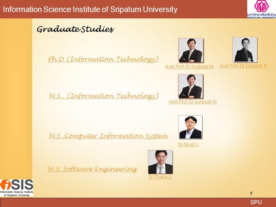 SPU Information Science Institute of Sripatum Universityเจ้าหน้าที่หลักสูตร