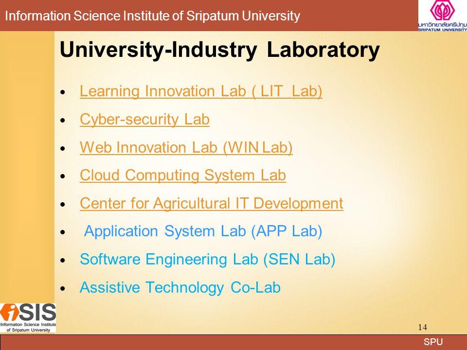 SPU Information Science Institute of Sripatum University WIN Lab (Web Innovation Laboratory) 8