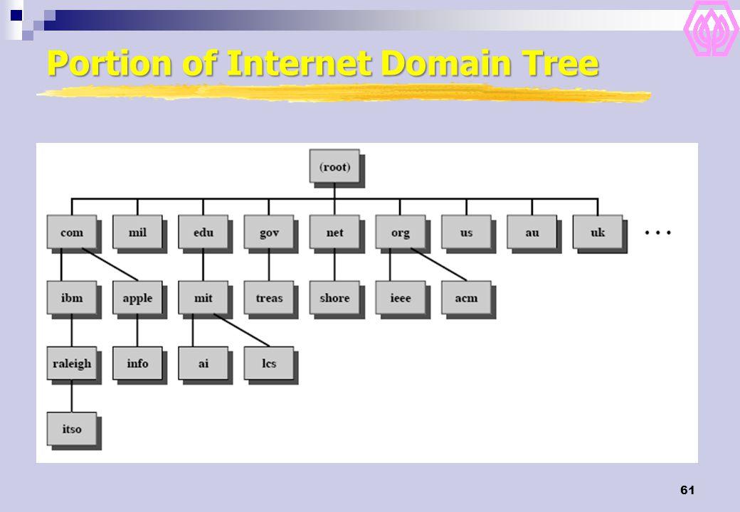 61 Portion of Internet Domain Tree