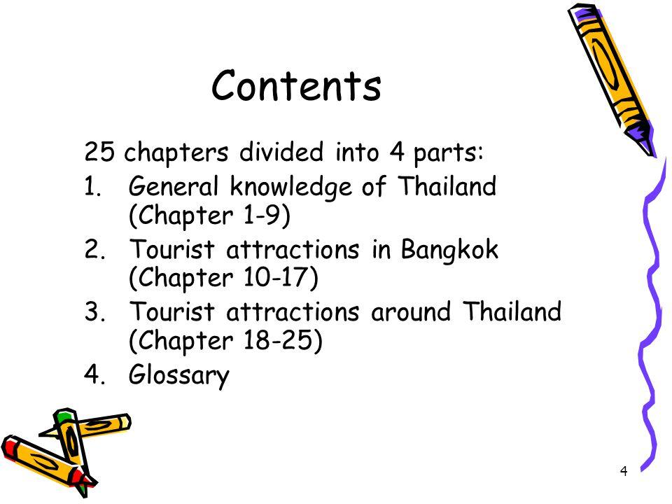 5 Part I: Thai studies Chapter 1: An outline of Thai history คนไทยน่าจะมาจากเสฉวน ทางตะวันตกของ ประเทศจีน และอพยพมาตามแม่น้ำลงมาทางใต้ ปฐมกษัตริย์แห่งราชวงศ์พระร่วงหรือ สุโขทัย คือ พ่อขุนศรีอินทราทิตย์ มีกษัตริย์สืบต่อมารวม 9 องค์ เป็นอิสระอยู่ประมาณ 140 ปี ก็ตกเป็นเมืองประเทศ ราชของอยุธยา สมเด็จพระรามาธิบดีที่ 2 ( พระเจ้าอู่ทอง ) ทรงเป็น ปฐมกษัตริย์แห่งอาณาจักรอยุธยา มีกษัตริย์ ปกครองทั้งสิ้น 33 พระองค์ 5 ราชวงศ์ มีการทำ สงครามกับพม่า 24 ครั้ง เสียกรุง 2 ครั้ง