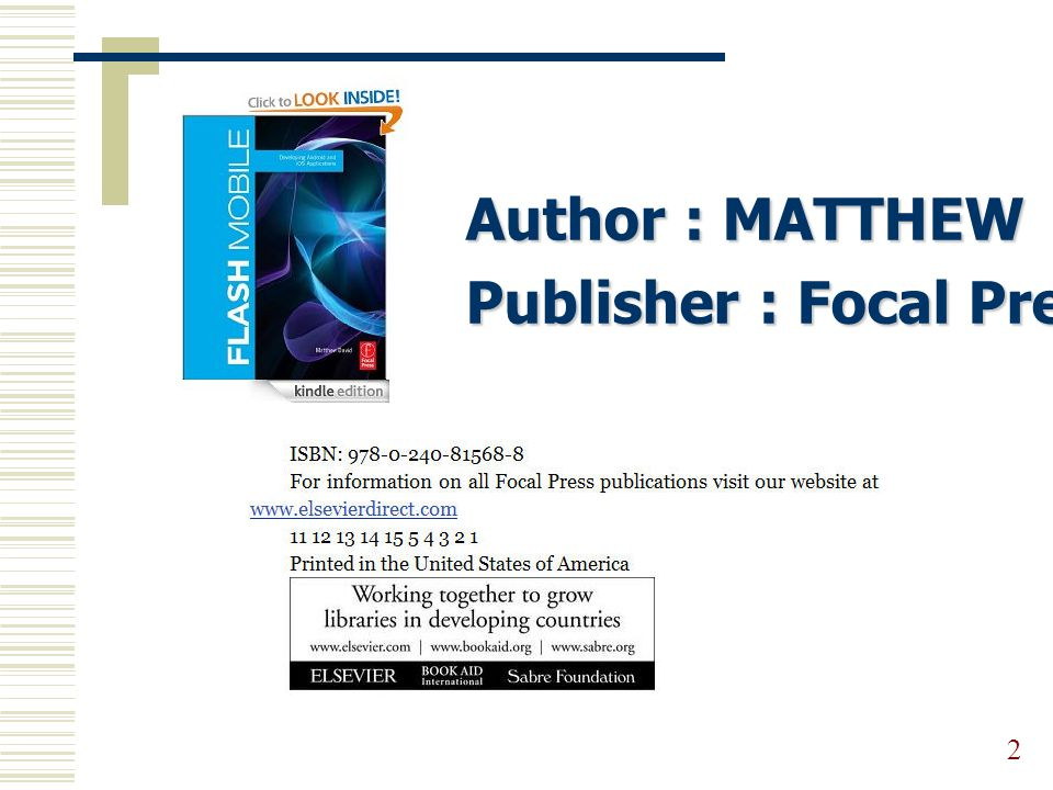 Author : MATTHEW DAVID Publisher : Focal Press, 2011 2