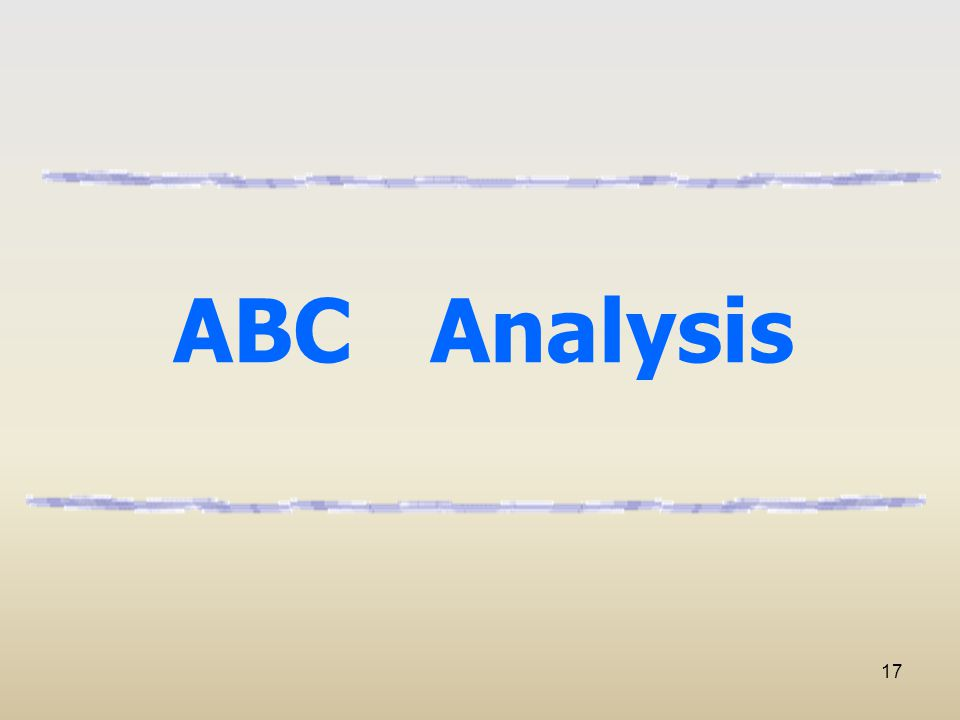 17 ABC Analysis
