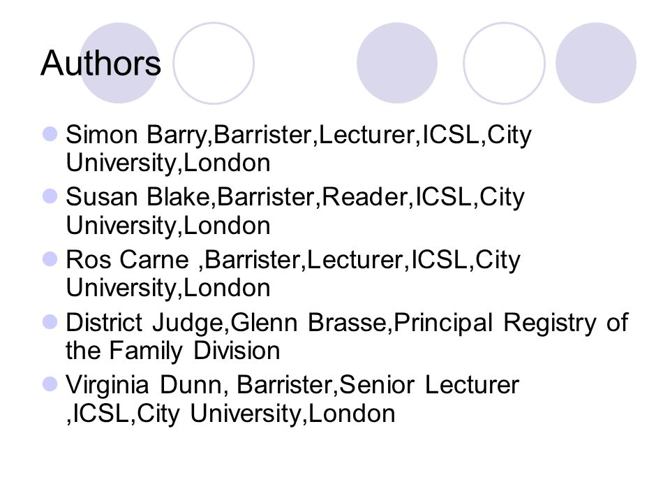 Authors Simon Barry,Barrister,Lecturer,ICSL,City University,London Susan Blake,Barrister,Reader,ICSL,City University,London Ros Carne,Barrister,Lectur