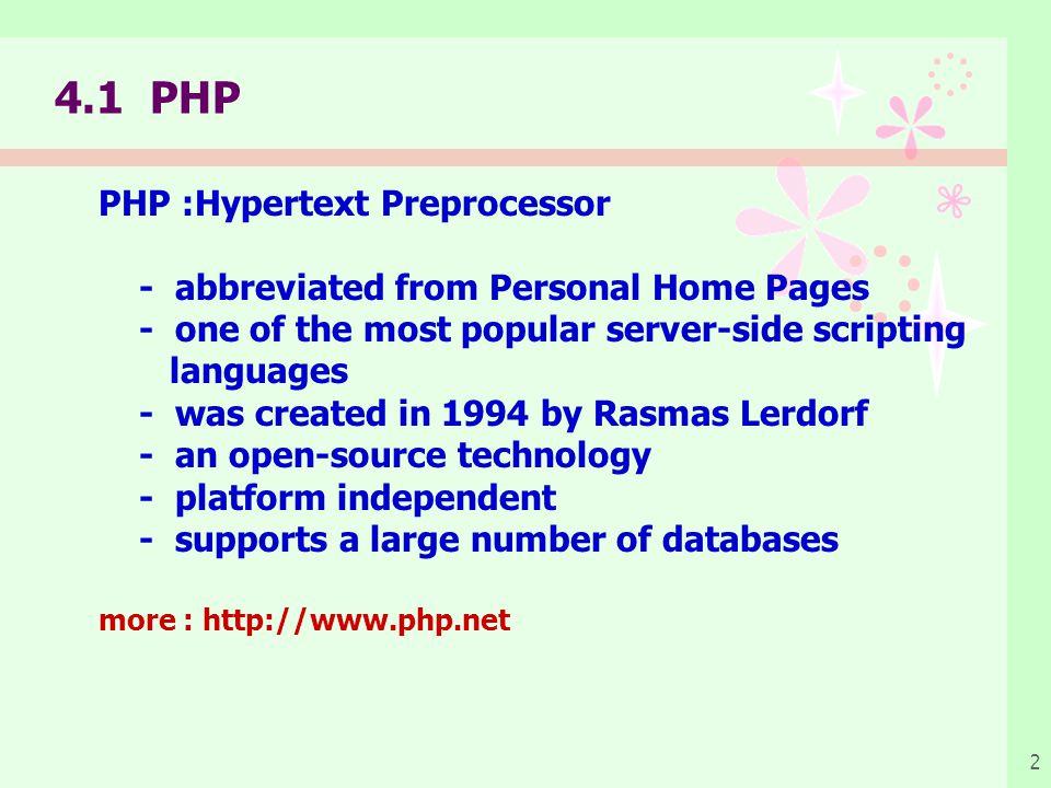 การเตรียมการเพื่อเขียนโปรแกรมภาษา PHP เครื่องคอมพิวเตอร์อย่างน้อย 1 เครื่อง โดยปกติการ พัฒนาระบบงานบนเว็บจะต้องมีเครื่องคอมพิวเตอร์ที่ทำ เป็น Web Server และ Web browser แต่ถ้ามี งบประมาณจำกัดในการจัดหาเครื่องคอมพิวเตอร์ก็ สามารถใช้เครื่องคอมพิวเตอร์เพียงเครื่องเดียวก็ได้ โดยให้เครื่องคอมพิวเตอร์นี้ทำหน้าที่เป็นทั้ง Web Server และ Web browser ระบบปฏิบัติการ Windows หรือ Unix หรือ Linux โปรแกรม Web Server ซึ่งสามารถเลือกใช้โปรแกรม อะไรก็ได้ เช่น Apache, Internet Information Server (IIS), OmniHTTPd เป็นต้น