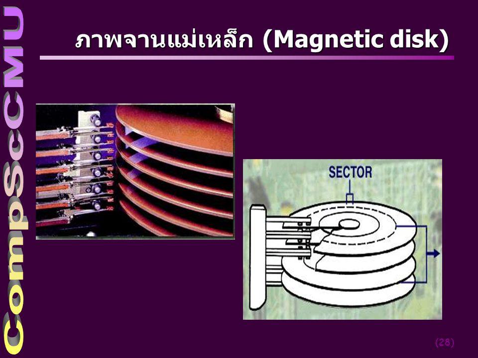 (28) ภาพจานแม่เหล็ก (Magnetic disk)