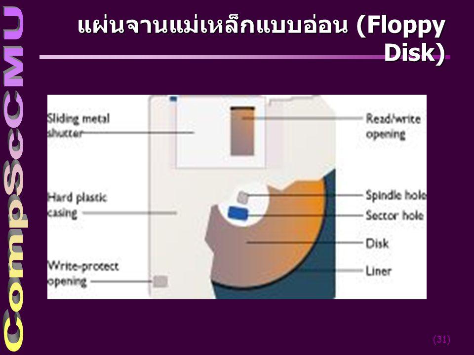 (31) แผ่นจานแม่เหล็กแบบอ่อน (Floppy Disk)