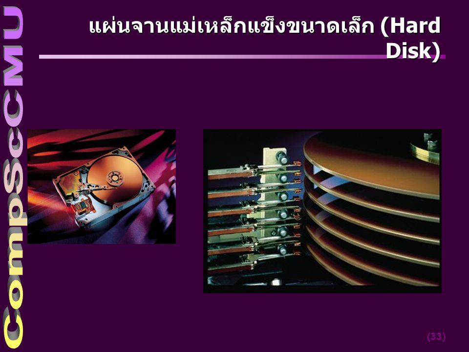 (33) แผ่นจานแม่เหล็กแข็งขนาดเล็ก (Hard Disk)