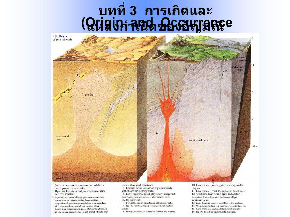 บทที่ 3 การเกิดและ แหล่งกำเนิดของอัญมณี (Origin and Occurrence of Gemstones)