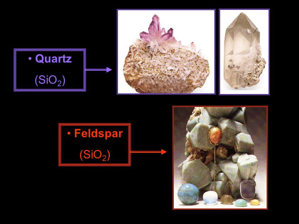 Quartz (SiO 2 ) Feldspar (SiO 2 )
