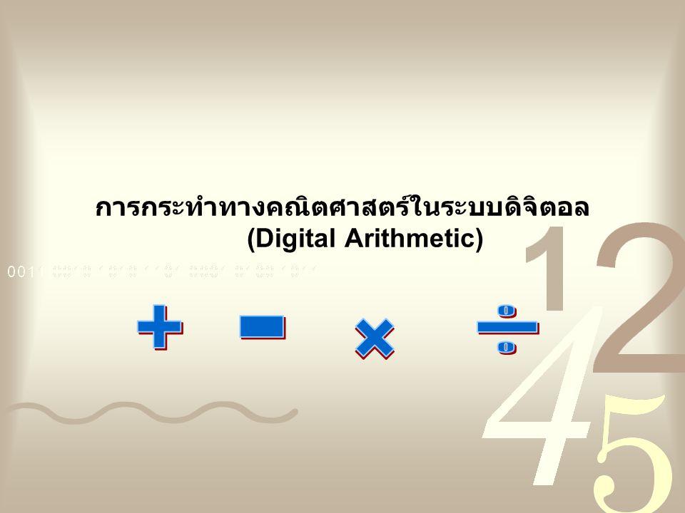 การกระทำทางคณิตศาสตร์ในระบบดิจิตอล (Digital Arithmetic)